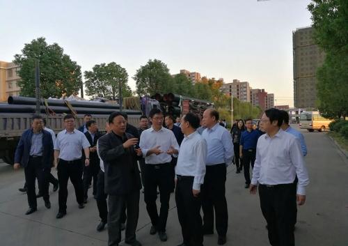 鄂州市江副市长及新疆兵团第五师双河市党政代表团来我公司考察